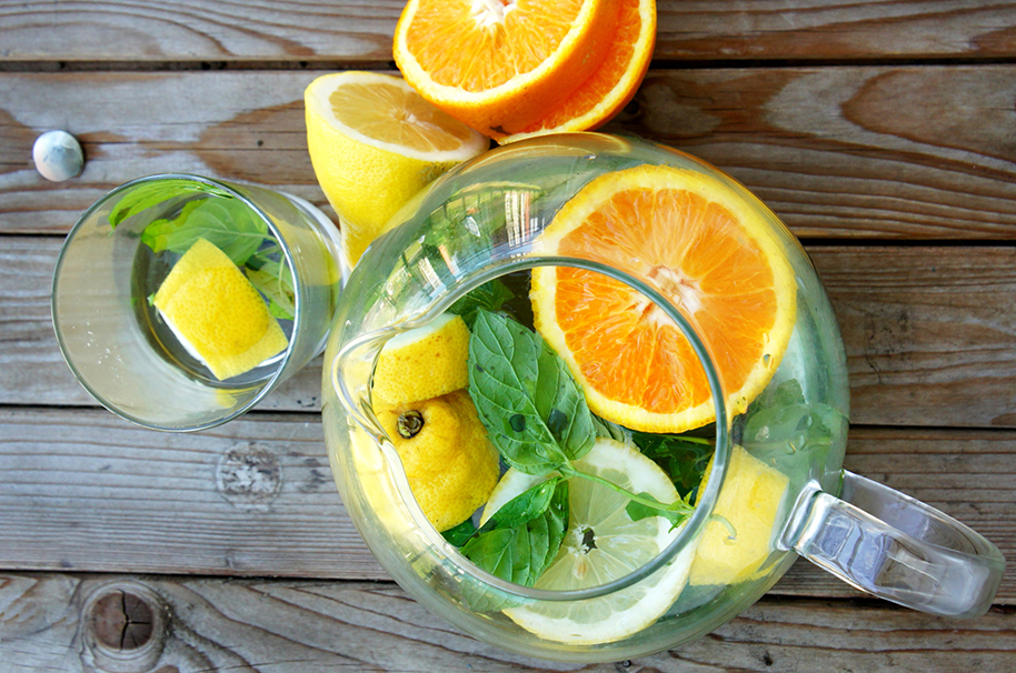 Citrus Fruit Family Infused Water